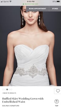 Stunning Ivory Wedding Dress Dumfries, 22026