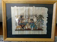 Framed Egyptian Papyrus Painting North York, M2N