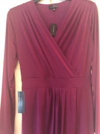 women's red long-sleeved dress Fairfax