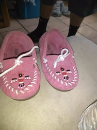 pair of pink leather boat shoes El Paso, 79924