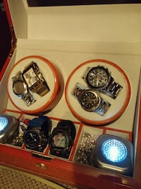 Designer watches and auto wind case for sale