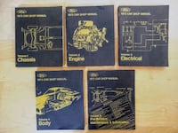 1973 Ford Car Shop Service Manual Vol 1 2 3 4 5 Set Incl. 73 Mustang Los Angeles