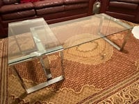 Coffee table with side table set