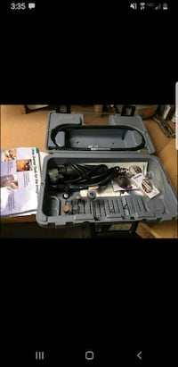 Dremel set with accessories and case