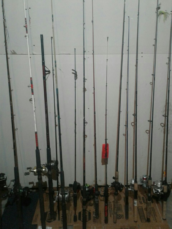 fishing rod and reel lot