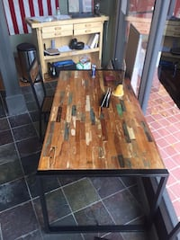 CDI teak table with 4 chairs