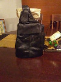 black leather crossbody bag and wallet 626 mi