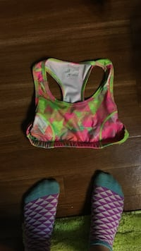 green and pink racer-back sports bra Austin, 78737