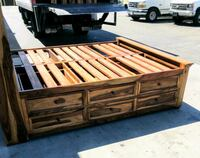 brown wooden bed frame with drawers San Diego, 92111