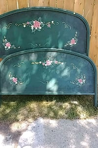Antique metal double hand painted bed Barrie, L4M 5B8