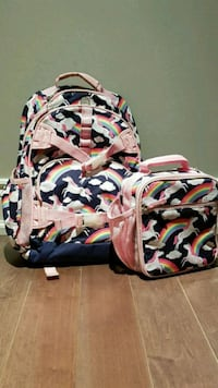 Potterybarn - backpack and lunch bag (good condition) Toronto, M5J 1E3