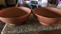 two brown ceramic bowl and plate Bakersfield, 93312