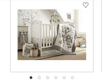 Levtex baby night owl 5 pieces crib bedding set in grey /taupe Chelsea, 02150