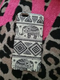 white and black elephant printed iPhone case