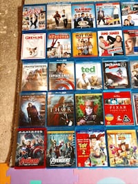 Blu-ray movies between 55 to 60 total great cond. Alexandria, 22309