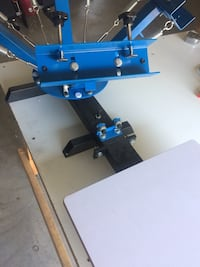 4 Color, 1 Station Screen Printer