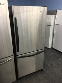 gray bottom-mount refrigerator Toronto, M3J