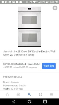 jenn air expressions double wall electric oven Springdale, 72764