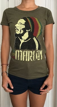 T-shirt imprimé bob Marley T-shirt cotton