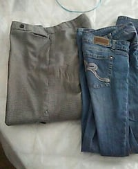 two blue and gray denim jeans Houston, 77028