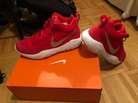 pair of red Nike running shoes Toronto, M2R 1X7