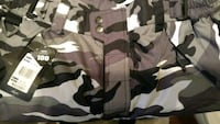 black and gray camouflage cargo shorts Racine, 53404