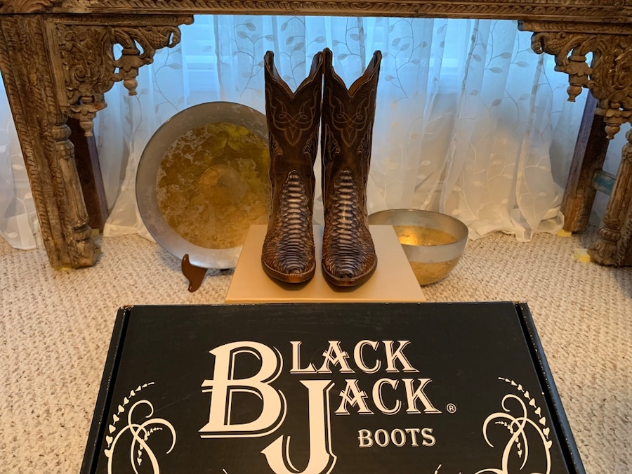 Photo 8B Python Rusted Dye Cowgirl Boots by Black Jack