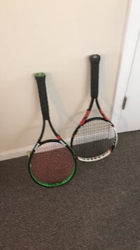 two green and red tennis rackets Murrells Inlet, 29576