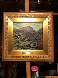 A.Y. Jackson - Nelle Lake on canvas art gallery framed Mint condition