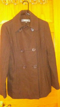 Brown Kenneth Cole Reaction Wool Blend Coat
