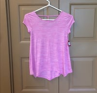 Pink scoop-neck cap-sleeved shirt Middletown, 06457