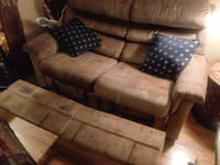 brown suede 3-seat couch Moss Point, 39563