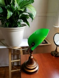green and white table lamp Clinton, 20735