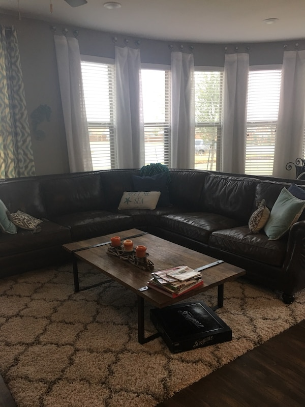 Bernhardt full leather couch