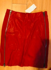 Ck red leather skirt size xs-s