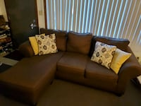 Brown couch with chaise and storage Cedar Falls, 50613