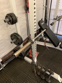 Fitness gear PRO HR500 weight rack, bench, and tons of extras Arlington, 22206