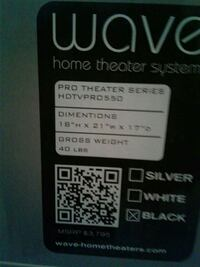 Wave home theater system sticker