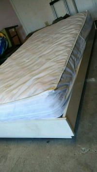 white and brown bed base mattress Laval, H7X 3M2