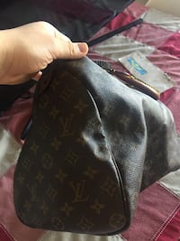 Black and brown louis vuitton leather tote bag 788 km