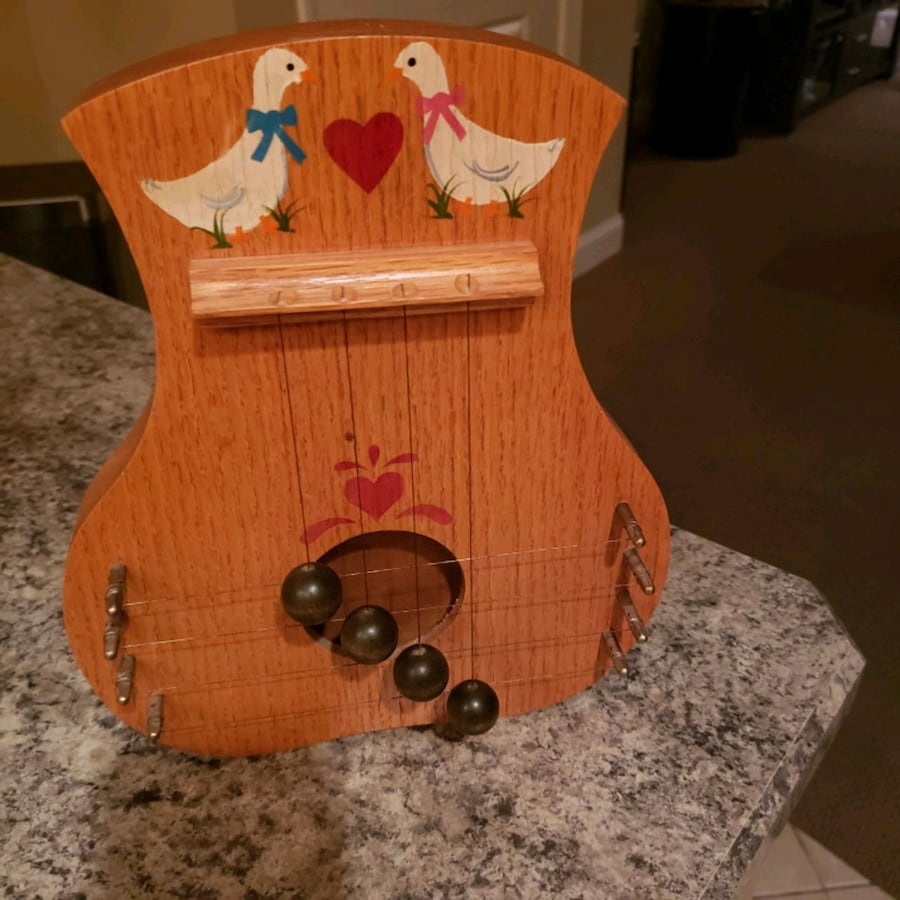 Folk art music box