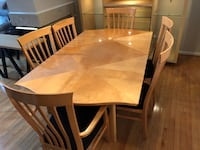 rectangular brown wooden table with four chairs dining set Ashburn, 20147