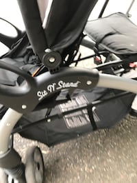 Sit or stand and ride double stroller