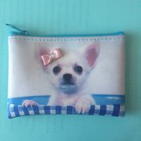 Light Blue Coin Purse with Dog Vaughan, L4H 2X3