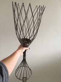 """Rustic wire candle holder.  Set on a table or floor. 25"""" high. Beautiful! Schererville, 46375"""