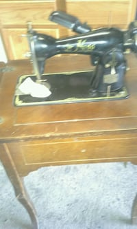 black and brown treadle sewing machine Allentown, 18103
