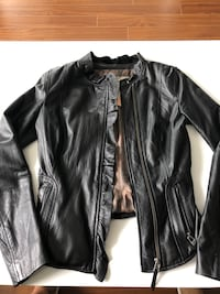 Black leather jacket from Danier - Blink! Toronto, M3C 4J1