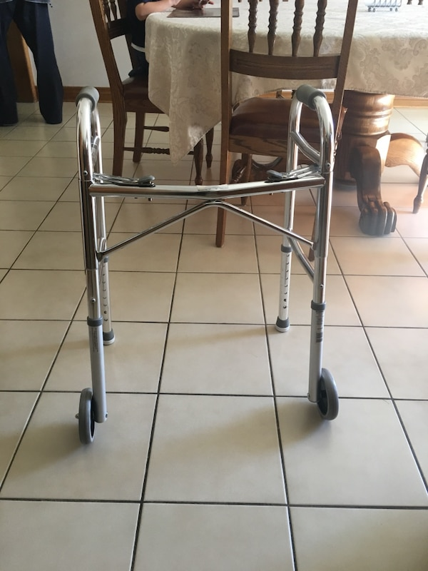 Walker - Adjustable with wheels and stationary feet