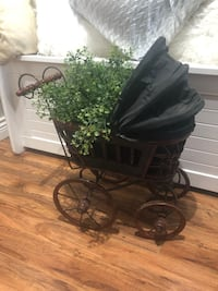 "Beautiful vintage looking buggy stands 20"" tall x 21"" long x 12"" wide Langley, V2Y 2V7"