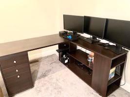 L Shaped Desk with Storage